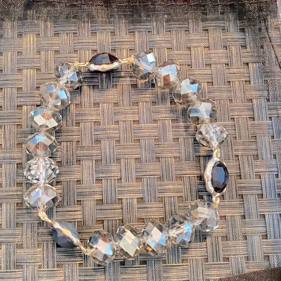 Elegant Bracelet w/ clear&teal crystal beads